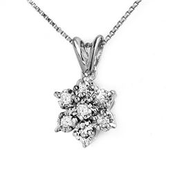 0.25 CTW Certified VS/SI Diamond Pendant 14K White Gold - REF-22T9M - 12611