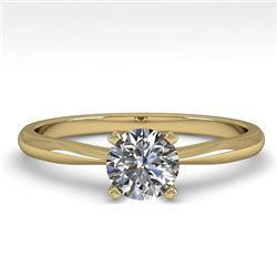 0.50 CTW VS/SI Diamond Engagement Designer Ring 14K Yellow Gold - REF-101Y8K - 38447