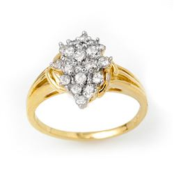 0.25 CTW Certified VS/SI Diamond Ring 10K Yellow Gold - REF-25A5X - 14351