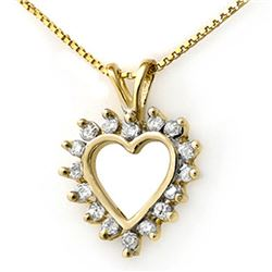 1.0 CTW Certified VS/SI Diamond Pendant 14K Yellow Gold - REF-67H6A - 13382