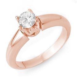 0.50 CTW Certified VS/SI Diamond Ring 14K Rose Gold - REF-79A3X - 10128