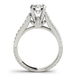 1.7 CTW Certified VS/SI Diamond Pave 2Pc Wedding Set 14K White Gold - REF-234K2W - 32057