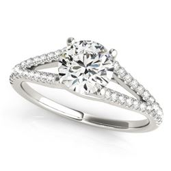 1.25 CTW Certified VS/SI Diamond Solitaire Ring 18K White Gold - REF-375T3M - 27954