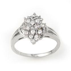 0.25 CTW Certified VS/SI Diamond Ring 18K White Gold - REF-41X6T - 14354