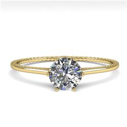 0.51 CTW Certified VS/SI Diamond Engagement Ring 18K Yellow Gold - REF-96M8H - 35884