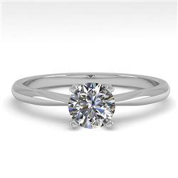 0.50 CTW VS/SI Diamond Engagement Designer Ring 18K White Gold - REF-107W3F - 32382