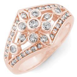 0.75 CTW Certified VS/SI Diamond Ring 14K Rose Gold - REF-67H3A - 11007