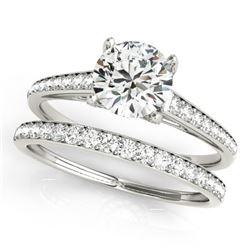 1.53 CTW Certified VS/SI Diamond Solitaire 2Pc Wedding Set 14K White Gold - REF-230X2T - 31598