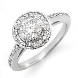 1.75 CTW Certified VS/SI Diamond Ring 18K White Gold - REF-443Y8K - 11766