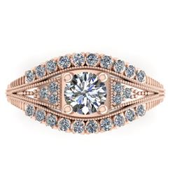 1.50 CTW Solitaire Certified VS/SI Diamond Ring 14K Rose Gold - REF-232F2N - 38548