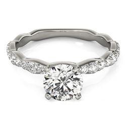 1.4 CTW Certified VS/SI Diamond Solitaire Ring 18K White Gold - REF-361K5W - 27477