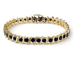7.0 CTW VS Certified Black Diamond Bracelet 10K Yellow Gold - REF-214M5H - 13822