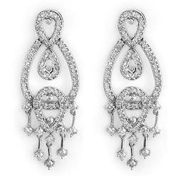 2.0 CTW Certified VS/SI Diamond Earrings 14K White Gold - REF-178W2F - 10181