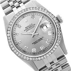Rolex Ladies Stainless Steel, Diamond Dial & Diamond Bezel, Sapphire Crystal - REF-426X2Y