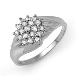 0.25 CTW Certified VS/SI Diamond Ring 14K White Gold - REF-35W5F - 13849