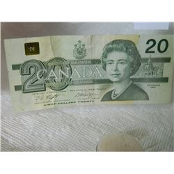 PAPER NOTE - CANADA - $20 - 1991