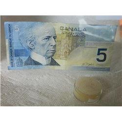 PAPER NOTE - CANADA - $5 - 2002