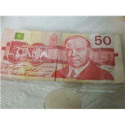 PAPER NOTE - CANADA - $50 - 1988