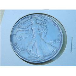SILVER ROUND - 1 OUNCE FINE SILVER - USA $1 - 1992