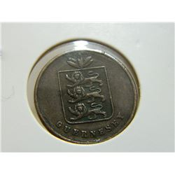 COIN - 1 DOUBLE GUERNESEY - 1868