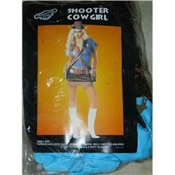 COSTUME - SHOOTER COW GIRL - BLUE