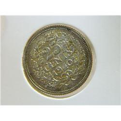 COIN - NEDERLANDEN - 25 CENTS - 1940