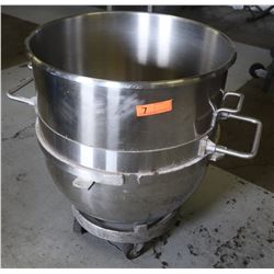 Large Mixing Bowl for Hobart Standing Mixer w/ Dolly 23  Diameter 30  H