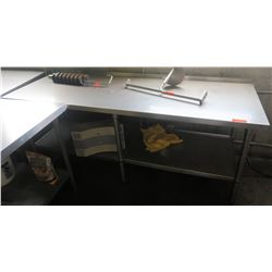 Stainless Steel Prep Table w/ Undershelf 84  x 30  x 35  H