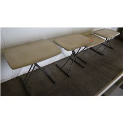 Folding Tables (Small) 4pcs 30  x 19.5  x 28  H