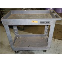 "Craftsman Heavy Duty Plastic Rolling Utility Cart 34.5"" x 17.5"" x 32.5"" H"