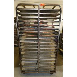 Large Speed Rack with Approx 40 Full Size Sheet Pans