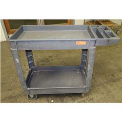 "Heavy Duty Plastic Rolling Utility Cart 40"" x 17"" x 33"" H"