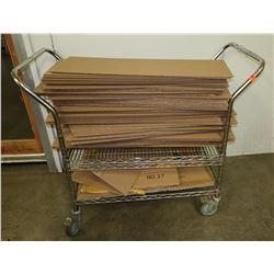"Stainless Steel Double-Handle Rolling Cart 35"" x 24"" x 40"" H"