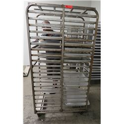 "Large Speed Rack 28.5"" x 36"" x 68"" H & Approx 20 Full Size Sheet Pans"