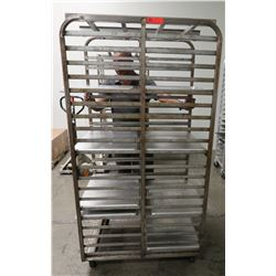 "Large Speed Rack 28.5"" x 36"" x 68"" H & Approx 10 Full Size Sheet Pans"