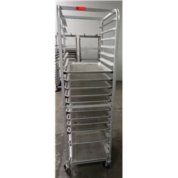 "Speed Rack 20"" x 26"" x 69"" H & Approx 11 Perforated Full Size Sheet Pans"