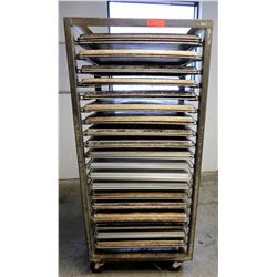 Speed Rack 26.5  18  x 65  H & Approx 39 Full Size Sheet Pans