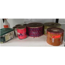 Various Items: Approx 7 Spools of Decorative Packing Materials