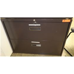 "2-Drawer Lateral Metal Filing Cabinet 36"" x 18"" x 27"" H"
