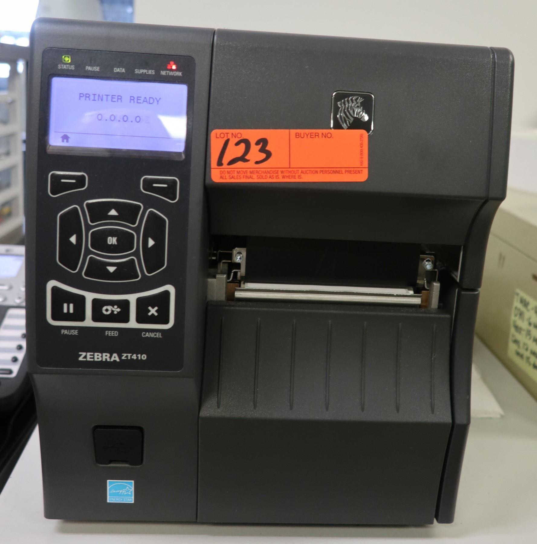 Zebra ZT410 Barcode Printer, Includes Software & Supplies