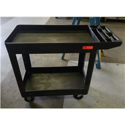 "Heavy Duty Plastic Rolling Utility Cart 39"" x 17.5"" x 33"" H"