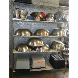 "Adjustable Metal Shelving Unit 60"" x 18"" x 73"" H"
