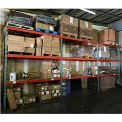 Warehouse Pallet Racking System - 4 Uprights, 18 Cross Beams