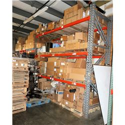 Warehouse Pallet Racking System - 3 Uprights, Approx. 8 Cross Beams