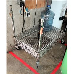 Adjustable Metal Shelving Unit 36  x 24  x 34  H