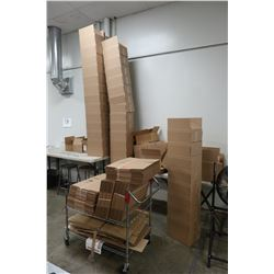 Brown Cardboard Boxes Shown in Photos (Cart Not Included)
