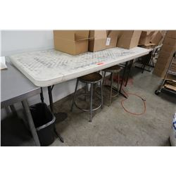 White Folding Utility Table (table only)