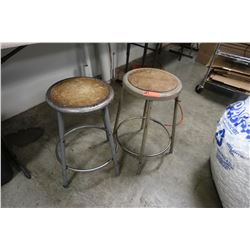 2 Metal Bar Stools