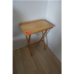 Small Wooden Folding Tray Table