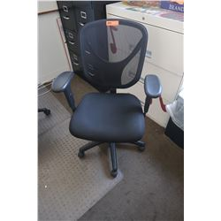 Black Rolling Office Chair w/ Mesh Back